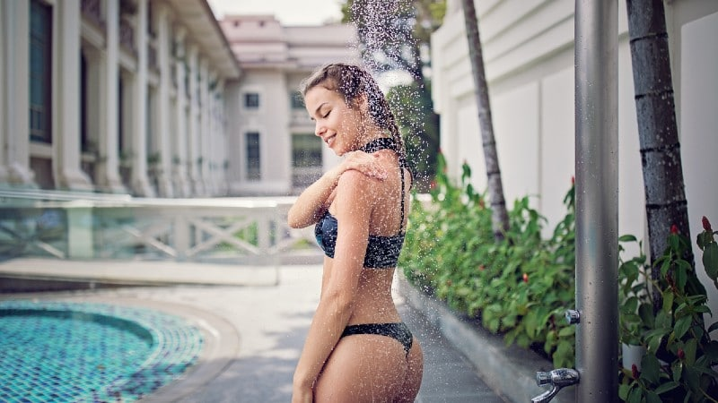 tarif douche piscine